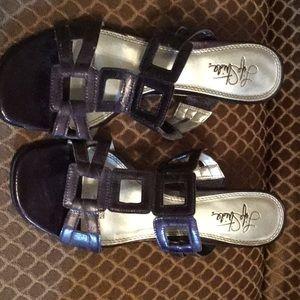 Purple dressy sandals